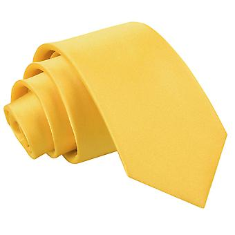 Boy's Plain Marigold Satin Tie  (8+ years)