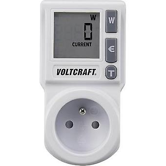 Energy consumption meter VOLTCRAFT EM 1000BASIC FR built-in child safety guard, Selectable energy tariffs, TMRS, Energy