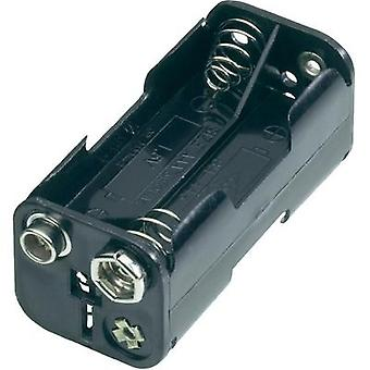 Battery tray 4 x AAA Stud and socket (L x W x H) 54.5 x 26 x 24.5 mm Goobay 11990