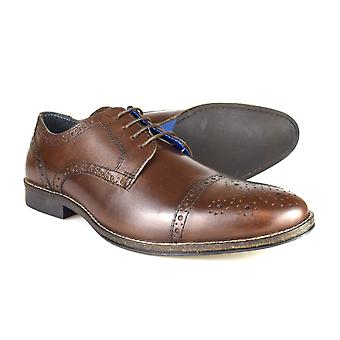 Red Tape Claydon Men's Brown Leather Formal Lace-Up Shoes