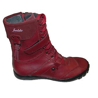 Froddo Girls 416004-1 Red Leather Boots
