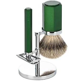 Muhle Hexagon 3pc Safety Razor Set in Forest
