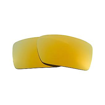 New SEEK Polarized Replacement Lenses for Oakley GASCAN 24K Gold Mirror