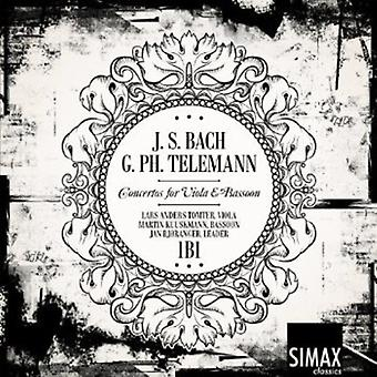 Bach/Telemann - Bach, Telemann: Koncerter for bratsch & Fagot [CD] USA import