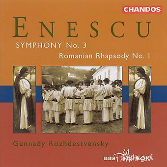 G. Enescu - Enescu: Symfoni Nr.3 / första rumänska Rhapsody [CD] USA import