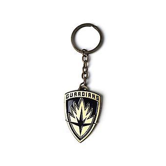 Vogtere af Galaxy Vol 2 Logo Metal skjold nøglering nøglering - guld