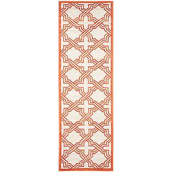 Elfenben & Orange geometriske Hall Runner - Safavieh
