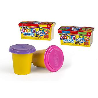 Colorbaby Pack 2 botes pasta moldeable dough15x7x7