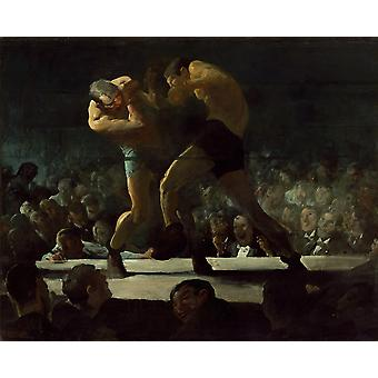 George Bellows - Club nocy (1907) plakat Giclee druku