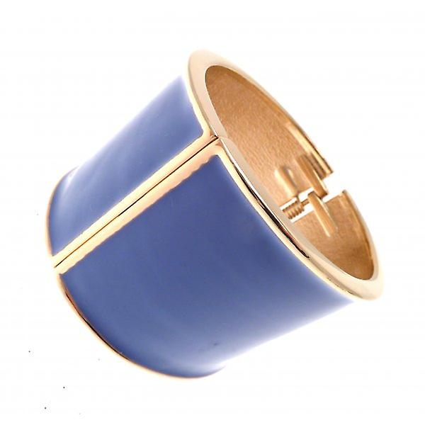 W.A.T Gold Style Mauve  Wide Enamel Bangle