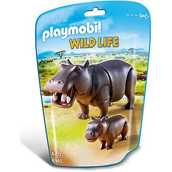 Playmobil 6945 Hippo with Calf (Toys , Dolls And Accesories , Miniature Toys , Animals)