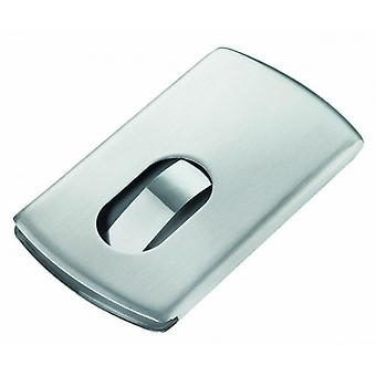 Troika Slide Business Card Case - Silver
