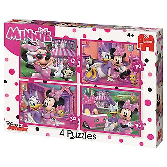 Jumbo Disney Minnie 4 in1 Jigsaw Puzzle 19668