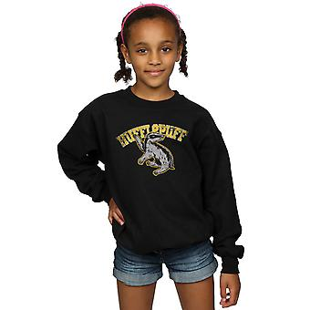 Harry Potter Girls Hufflepuff Sport Emblem Sweatshirt