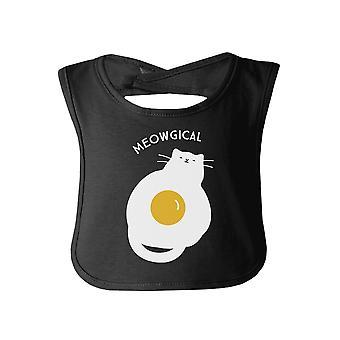 Meowgical Katze Schwarz Bib süße Katze Baby Lätzchen Geschenk Katze Mom Babygeschenke