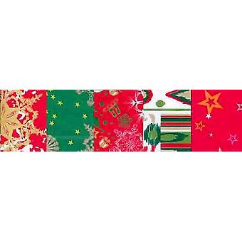 5 Christmas Coordinated Decopatch Paper Sheets | Decoupage Crafts