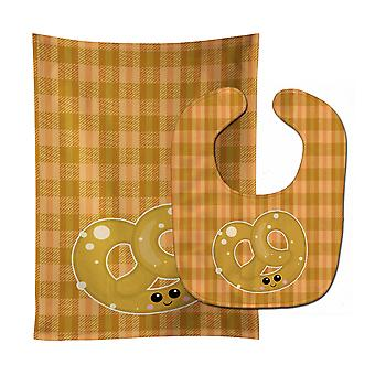 Carolines Treasures  BB6888STBU Pretzel Baby Bib & Burp Cloth