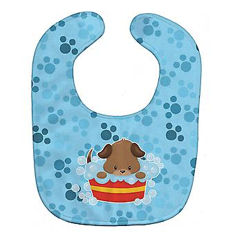 Carolines Treasures  BB7077BIB Puppy taking a bath Baby Bib
