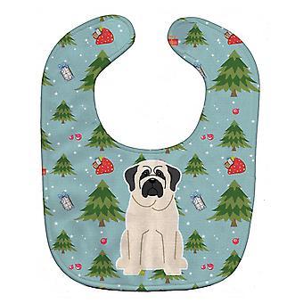 Carolines schatten BB4677BIB kerst Mastiff wit Baby slabbetje