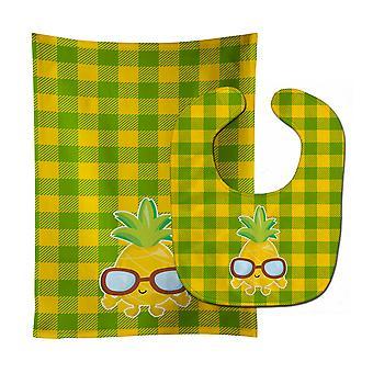 Ananas coole zonnebril gezicht Baby Slabbetje & Burp doek