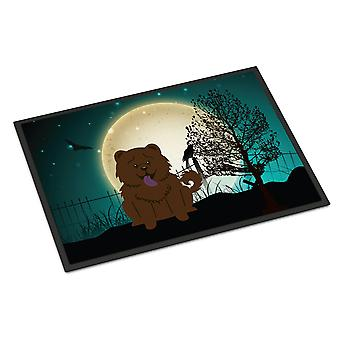 Halloween Scary Chow Chow Chocolate Indoor or Outdoor Mat 18x27