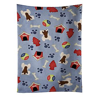 Dog House Collection Chinese Crested Cream Kitchen Towel