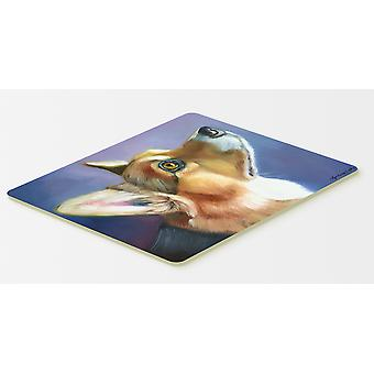 Carolines Treasures  7405CMT Corgi Devotion Kitchen or Bath Mat 20x30