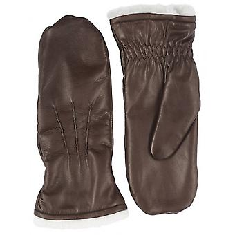 Pittards Leather Mittens - Mocca Brown