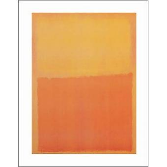 Orange and Yellow Poster Print by Mark Rothko (11 x 14)