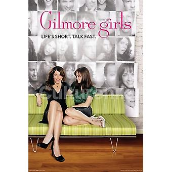 GILMORE GIRLS GREEN COUCH Poster Poster Print