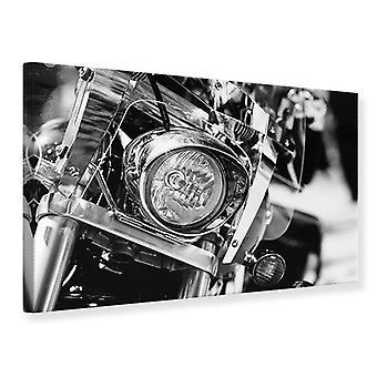 Canvas Print Motorcycle Close Up
