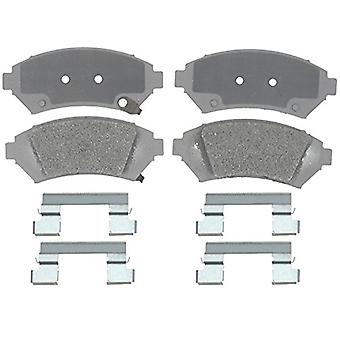 ACDelco 14D818MH Advantage Semi-Metallic Front Disc Brake Pad Set with Hardware