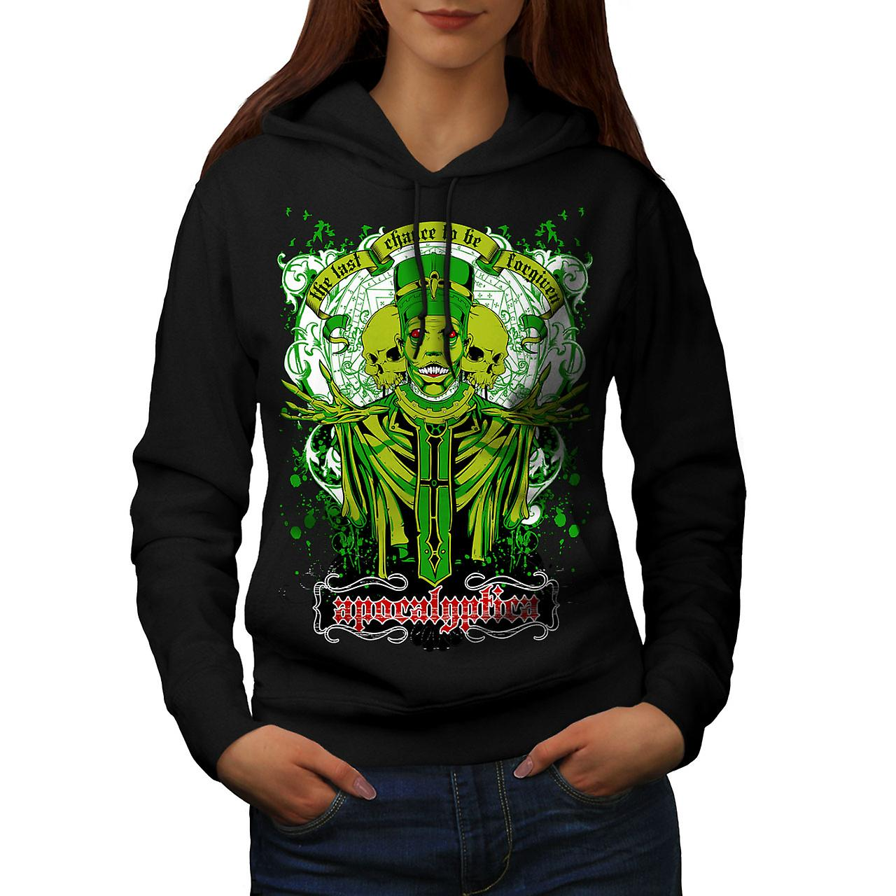 Apocalyptica Death Zombie Women Black Hoodie | Wellcoda