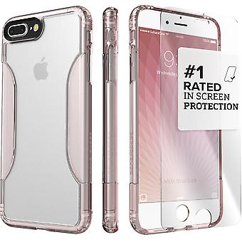 SaharaCase iPhone 8 Plus & 7 Plus Rose Gold Clear Case, Classic Protective Kit Bundle with ZeroDamage® Tempered Glass