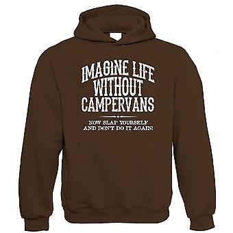 Life Without Campervans Mens Funny Hoodie (S to 5XL)