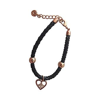 Braided Leather Bracelet With Silver Pendant As0078