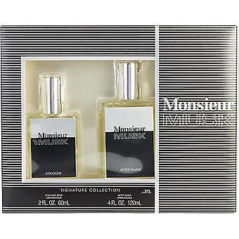 Monsieur Musk By Dana Cologne Spray 2 Oz (New Packaging) & Aftershave 4 Oz (New Packaging)