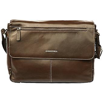 Leather Messenger Bag Cross Body Shoulder Strap Business Case Briefcase Travel (Brown)