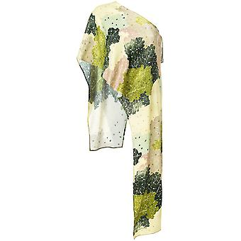 Off-white ladies OWAD035R188470279946 green viscose top