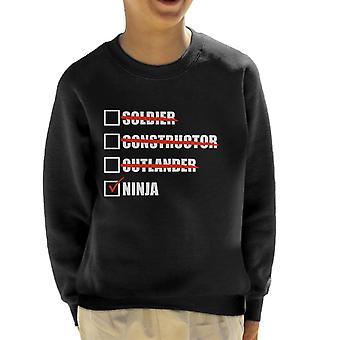 Fortnite Ninja Tick Liste Kinder Sweatshirt