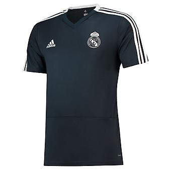 2018-2019 Real Madrid Adidas Trainingsshirt (dunkelgrau) - Kinder