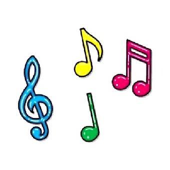 Siluetas de nota Musical de neón (12 en un paquete)