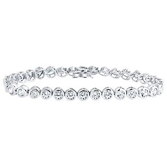 Iced Out 925 Sterling Silber Armband - BEZEL TENNIS 5mm