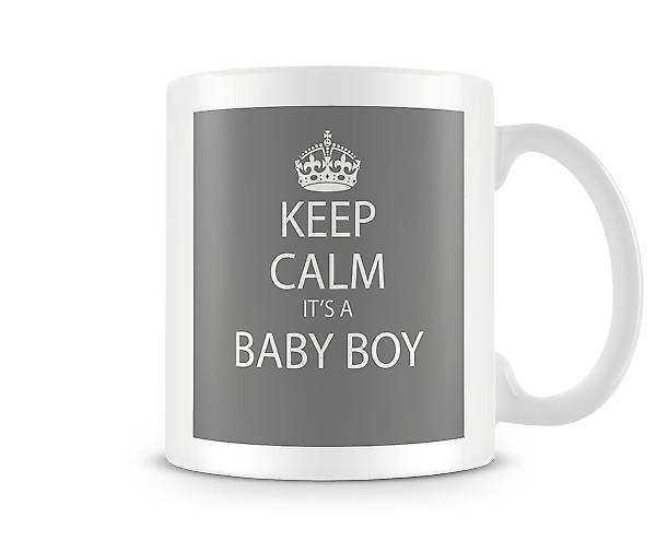 Keep Calm It's A Baby Boy Printed Mug