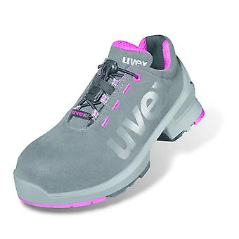 Uvex 8562.8 1 Size 4 Ladies Safety Trainers S2 Grey/Pink Metal-free Airport Safe