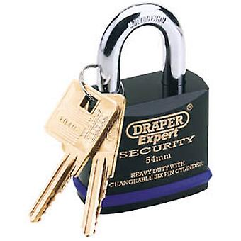 Draper 64193 Expert 54mm HD Padlock & 2 Keys Tough Molybdenum Steel Shackle