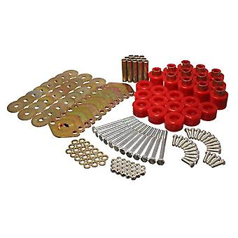 Energy Suspension 2.4110R Body Mount Set Red 1 in. Lift Includes Hardware Body Mount Set