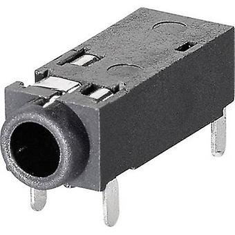BKL Electronic 1109202 2.5 mm audio jack Socket, horizontal mount Number of pins: 4 Stereo 1 pc(s)