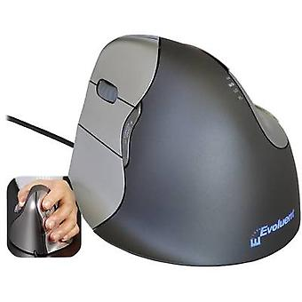 Evoluent Vertical Mouse 4 VM4L USB mouse Optical Ergonomic Grey, Silver