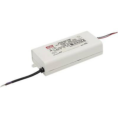 Mean Well PCD-60-2400B LED driver Constant current 60 W 2.4 A 15 - 25 Vdc dimmable, PFC circuit, Surge protection, Suitable for flammable surfaces